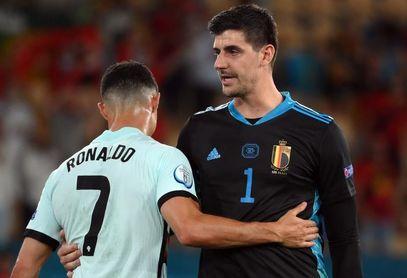 "Cristiano Ronaldo a Courtois: ""Tuviste suerte, ¿eh?"""
