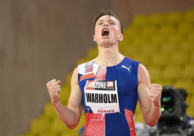 Warholm bate el récord mundial de 400 m vallas con 46.70