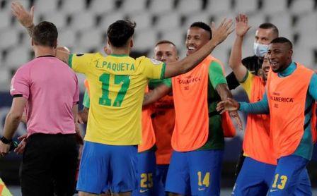1-0. Brasil despide a Chile y se medirá con Perú en semifinales