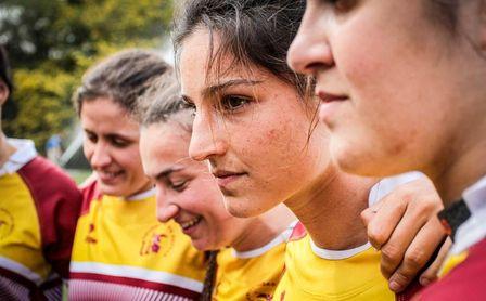 Clara Ruiz Rodríguez, capitana del equipo de rugby 7 femenino de la Universidad de Sevilla.