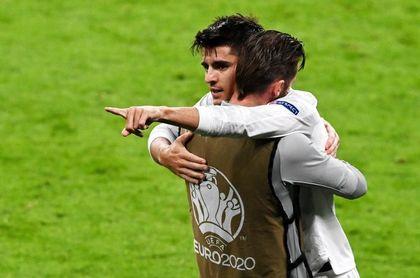 Morata logra su tercer gol y Chiesa el segundo