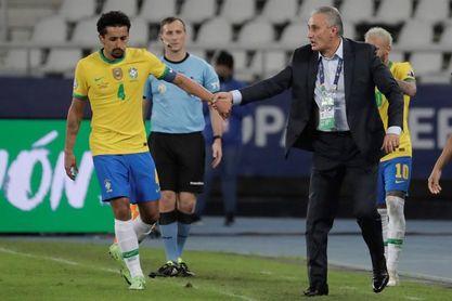 Marquinhos dice que Brasil sentirá falta de Gabriel Jesús en la final