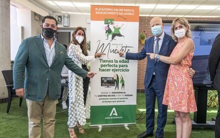 'Andalucía Muévete', la nueva plataforma online de la Junta para lograr un envejecimiento saludable
