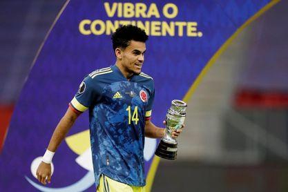 Colombia, con un doblete de Díaz, es tercero de América por quinta vez