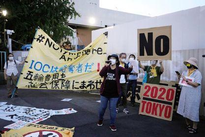 Inquietud y protestas en Japón a una semana de los Juegos Olímpicos