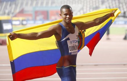 El atleta ecuatoriano Alex Quiñónez suspendido por un año