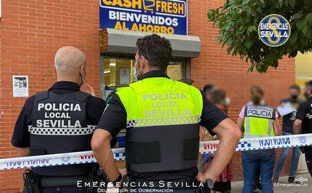 Fallece un atracador abatido por la policía durante un robo en un supermercado de Amate (Sevilla)