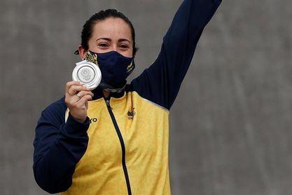 La colombiana Mariana Pajón se lleva la plata en la final de BMX