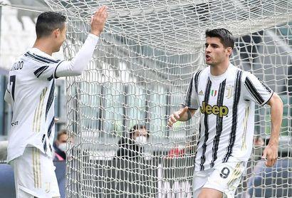 Morata y Bentancur vuelven al trabajo con el Juventus