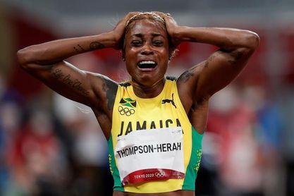 Elaine Thomson reina de la velocidad en un triplete jamaicano