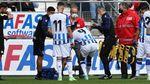 Carlos Fernández se rompe el ligamento cruzado.