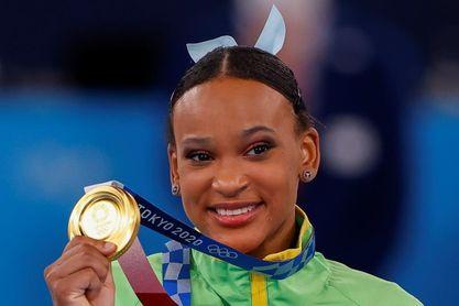 La brasileña Rebeca Andrade llega a lo más alto con el oro en salto