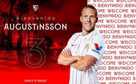 El Sevilla FC hace oficial el fichaje de Augustinsson y la duración de su nuevo contrato
