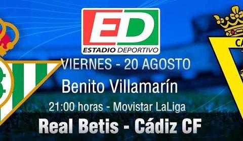 Real Betis-Cádiz CF: Heliópolis se viste de fiesta