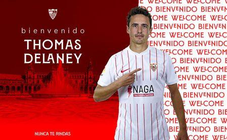 Oficial: Delaney, el sexto refuerzo del Sevilla 21/22.