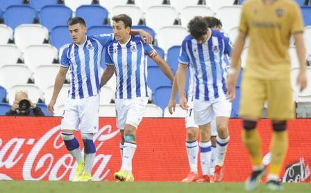 1-0: El gol de Barrenetxea vale a la Real para doblegar al Levante