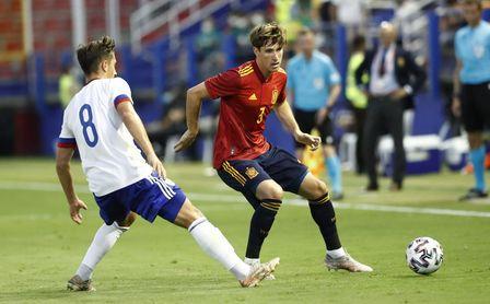 Titularidad y partido completo de Miranda con España sub 21