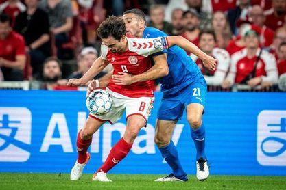 5-0. Dinamarca fulmina a Israel y saca medio billete a Catar