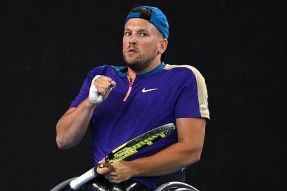 Los tenistas en silla de ruedas Alcott y De Groot brillan en el US Open