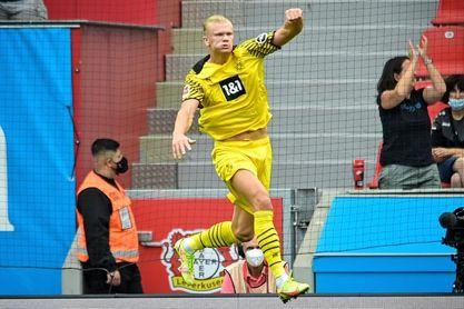 El Dortmund se impone con doblete de Haaland y Wolfsburgo gana y sigue líder