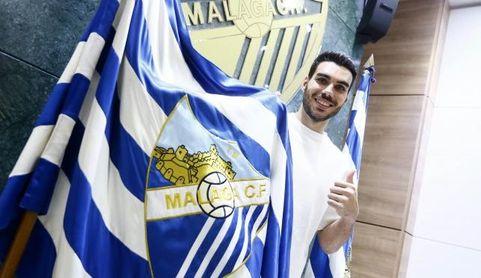 Dani Martín llora y se libera tras un primera titularidad con el Málaga CF