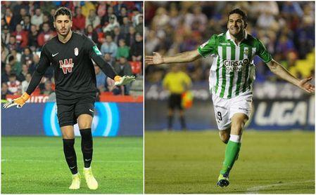 Jorge Molina y Rui Silva: amenaza de 'fuego amigo' en el Granada-Betis