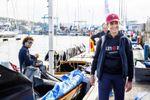 La infanta Elena visita Sanxenxo para seguir el Europeo de la clase 6m