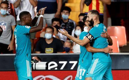 1-2: El Madrid remonta al Valencia muy cerca del final