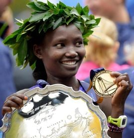 Mary Keitany, ganadora de los 7 grandes maratones, se retira