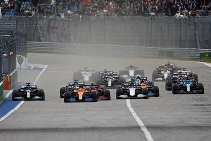 Sainz lidera las primeras vueltas en el GP de Rusia
