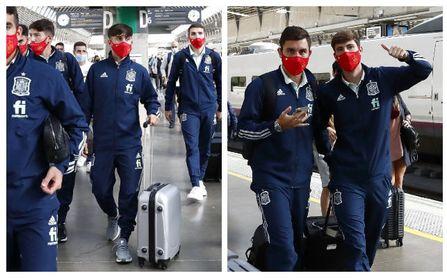 Rodri y Miranda encabezan la llegada a Sevilla de la selección española sub 21