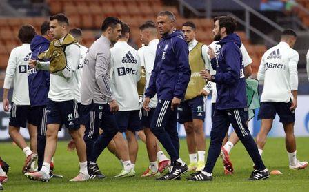 Ferran entrena al margen; Pedro Porro no acaba la sesión