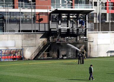 El partido entre Andorra e Inglaterra se jugará pese al incendio de la tarde