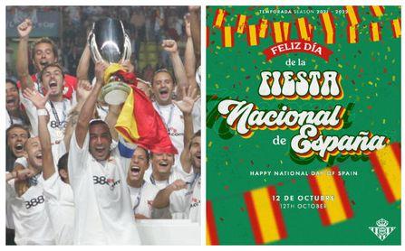 Sevilla y Betis, orgullosos de su hispanidad